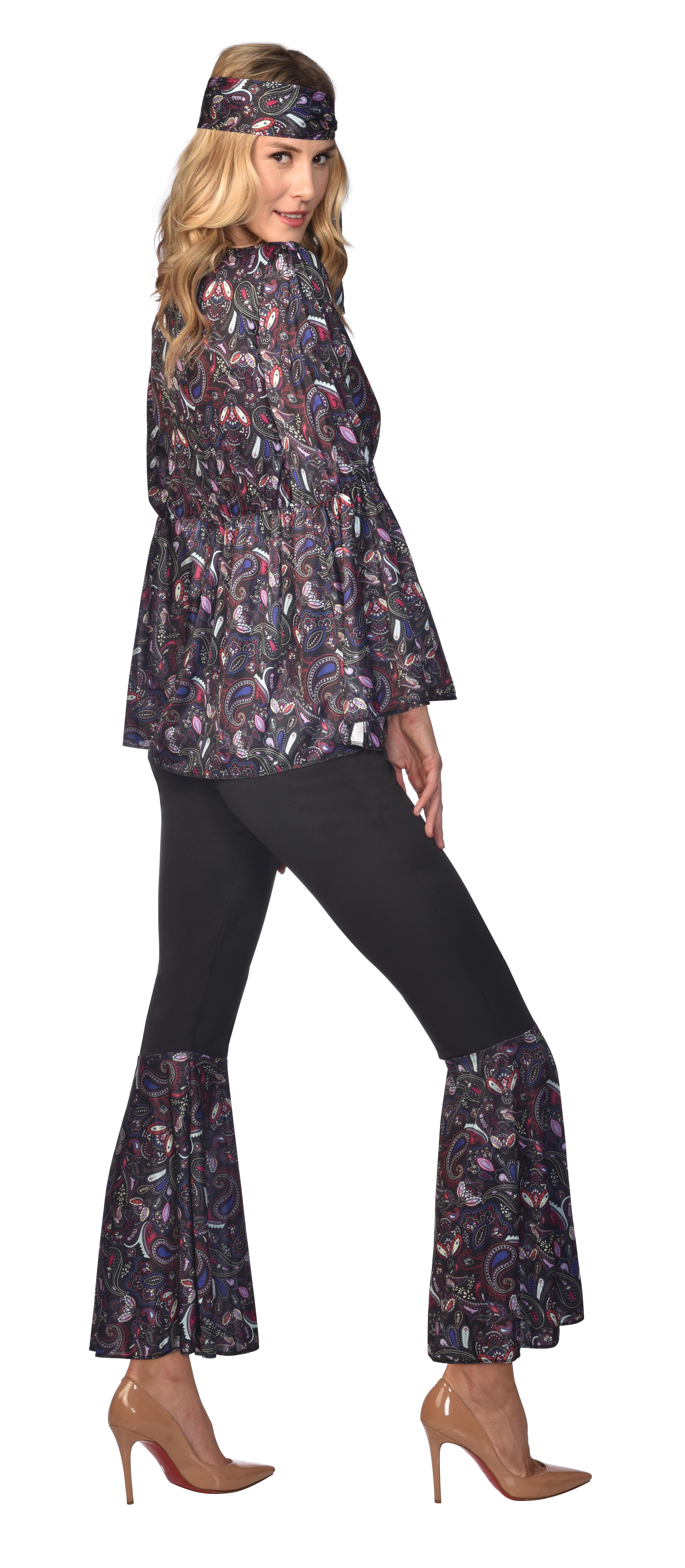 Indexbild 11 - Adult Ladies Hippie Dancing Queen Retro Groovy Hippy 60s 70s Fancy Dress Costume