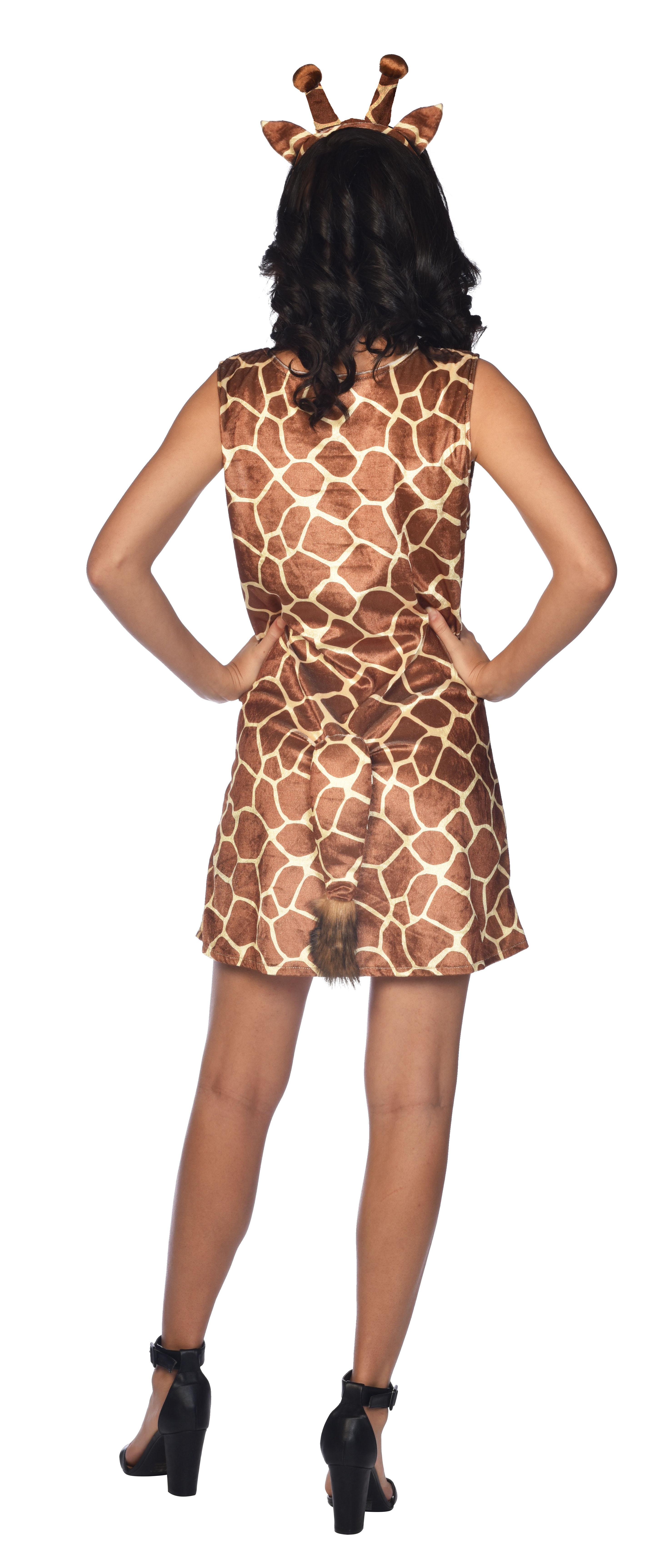 Indexbild 15 - Adult Ladies Zoo Safari Animal Giraffe Lady Fancy Dress Costume Womens Outfit