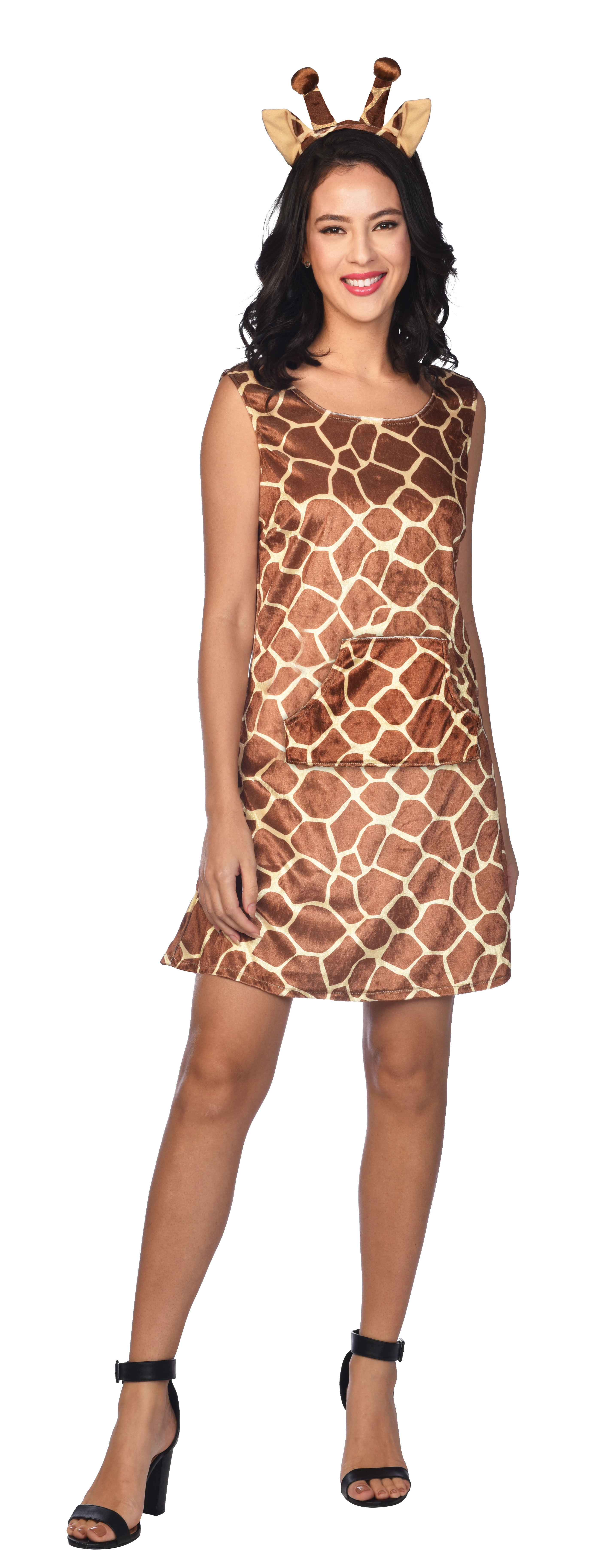 Indexbild 7 - Adult Ladies Zoo Safari Animal Giraffe Lady Fancy Dress Costume Womens Outfit