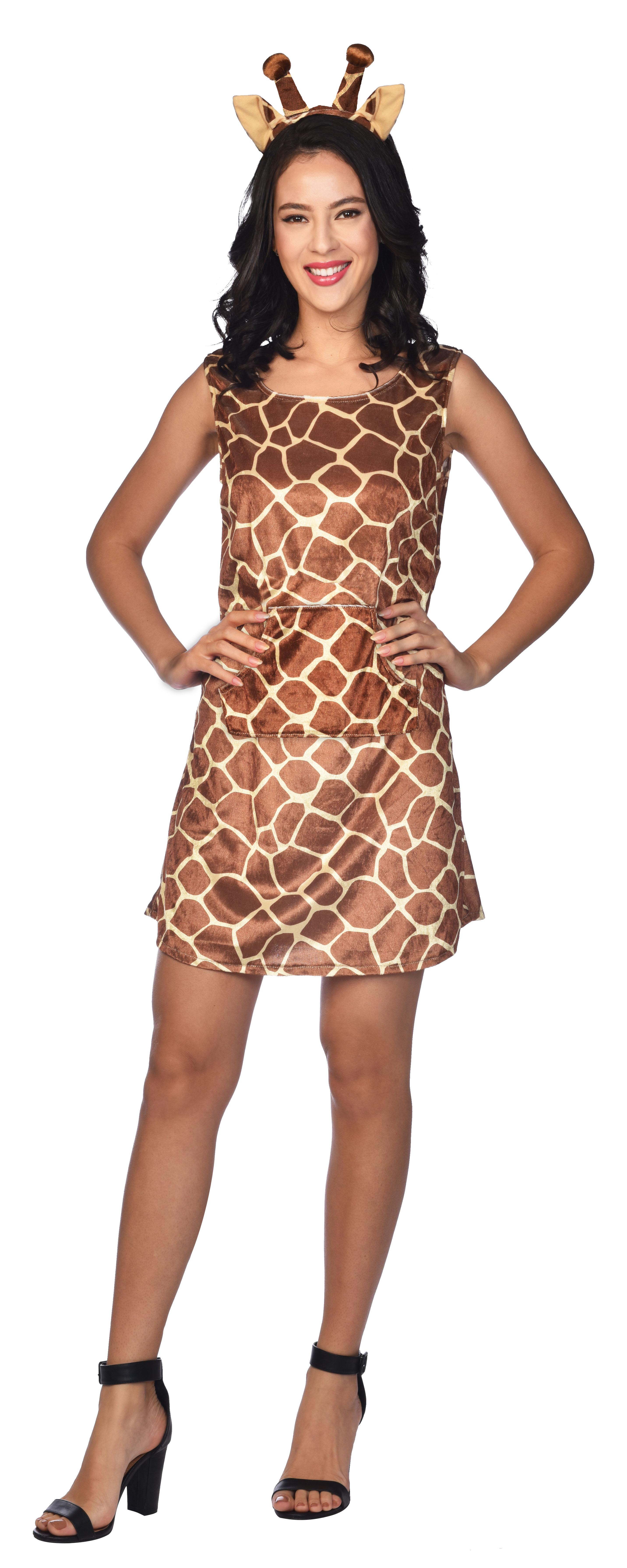 Indexbild 8 - Adult Ladies Zoo Safari Animal Giraffe Lady Fancy Dress Costume Womens Outfit