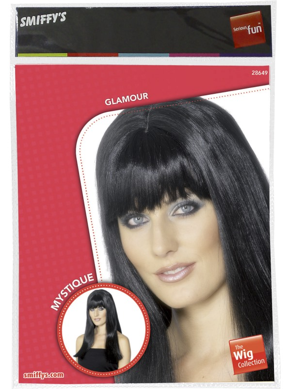 Adult Ladies Black Mystique Wig