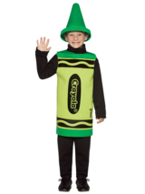 Child's 4-6 Years Old Green Crayola Costume