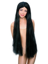 Red Extra Long Black Witch Wig