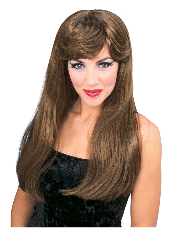 Auburn Long Glamour Wig