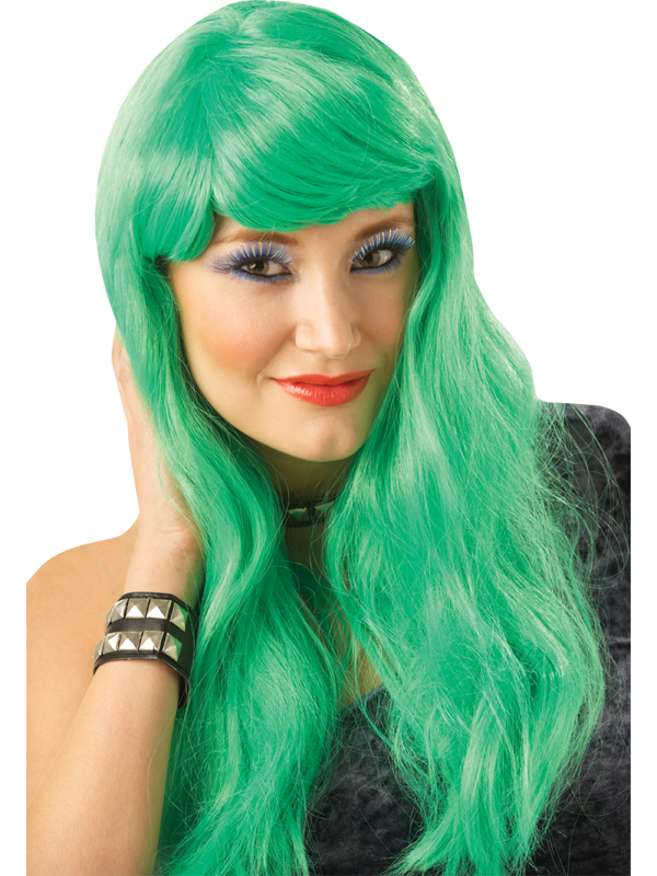 Green Long Glamour Wig