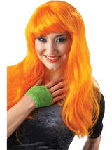 Orange Long Glamour Wig