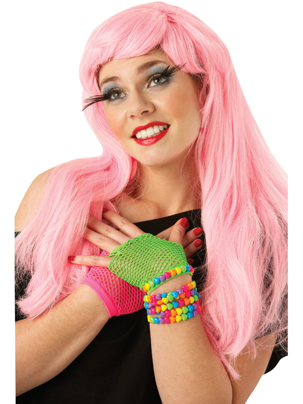 Pink Long Glamour Wig