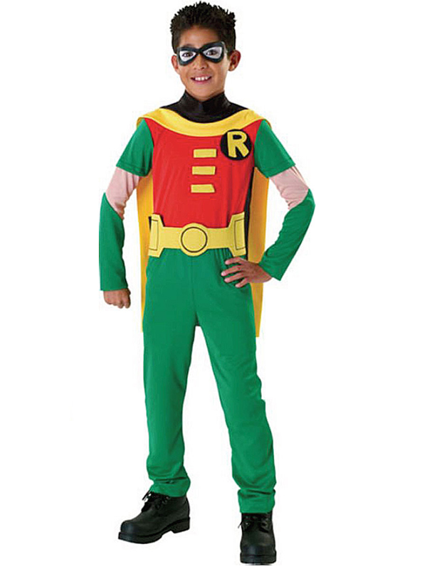 Sentinel Childs Robin Batman Brave And The Bold Fancy Dress Costume Kids Superhero BN  sc 1 st  eBay & Childs Robin Batman Brave And The Bold Fancy Dress Costume Kids ...