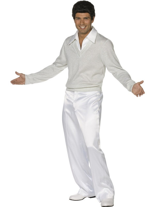 Menu0026#39;s Grease Teen Angel Costume Medium | Grease | Plymouth Fancy Dress Costumes and Accessories