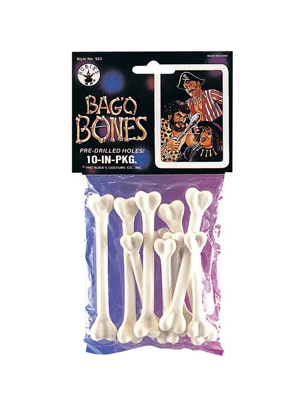 10 Pre Drilled Plastic Bones