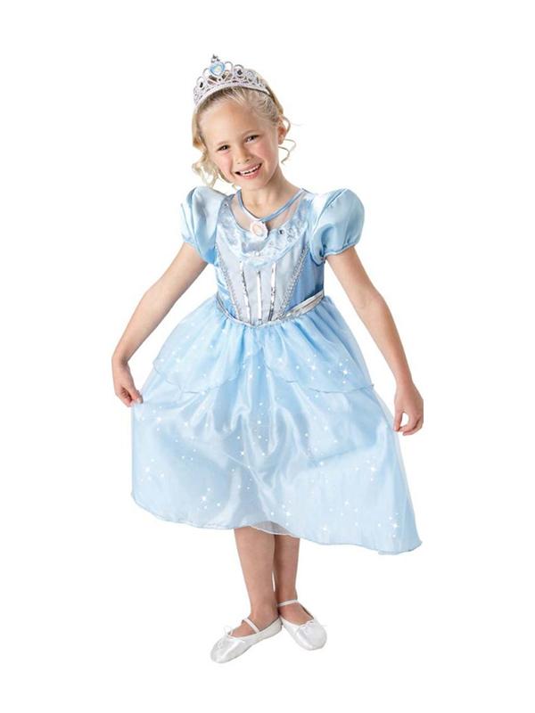 Disney Princess Cinderella Fancy Dress 7-8 Girls Sparkle Ballgown ... 66304ec4a22e