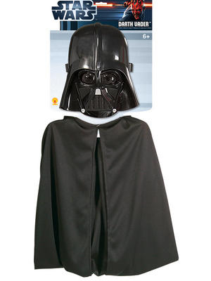 Child Darth Vader Cape & Mask Set Costume