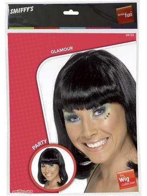 Adult Ladies Black Party Wig Thumbnail 2