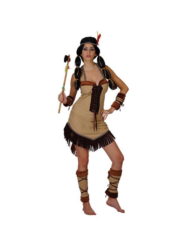Pocahontas-Indian-Princess-Fancy-Dress-Ladies-Red-Adult-  sc 1 st  eBay & Pocahontas Indian Princess Fancy Dress Ladies Red Adult Wild West ...