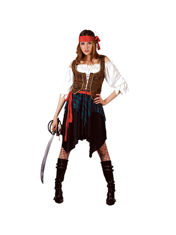 Adult ladies caribbean pirate woman fancy dress costume uk sizes 6 adult ladies caribbean pirate woman fancy dress costume solutioingenieria Choice Image