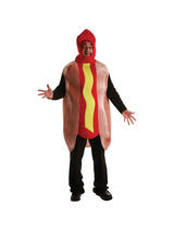 Men's One Piece Hot Dog Costume