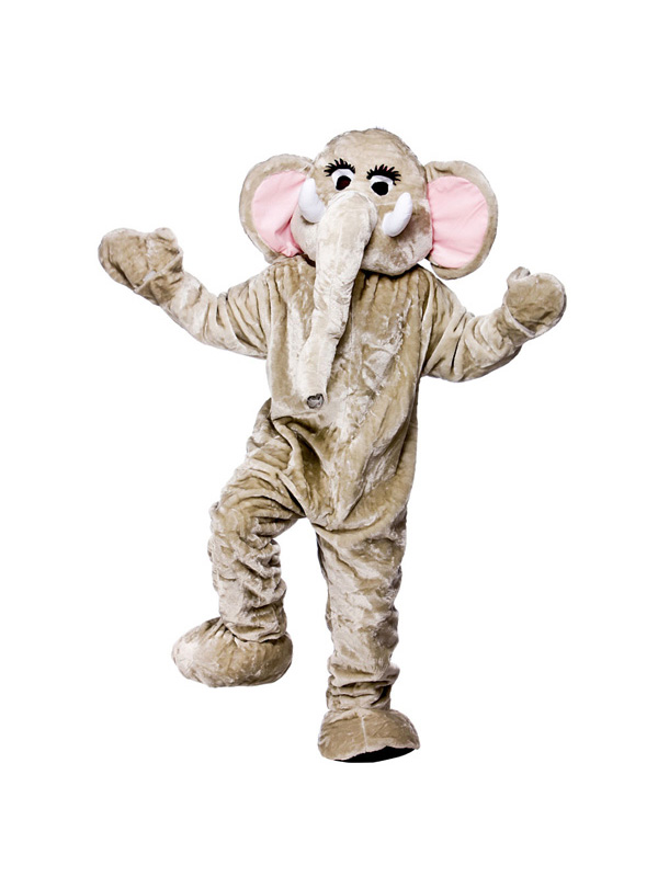 Men's Giant Cuddly Elephant Jumpsuit Costume