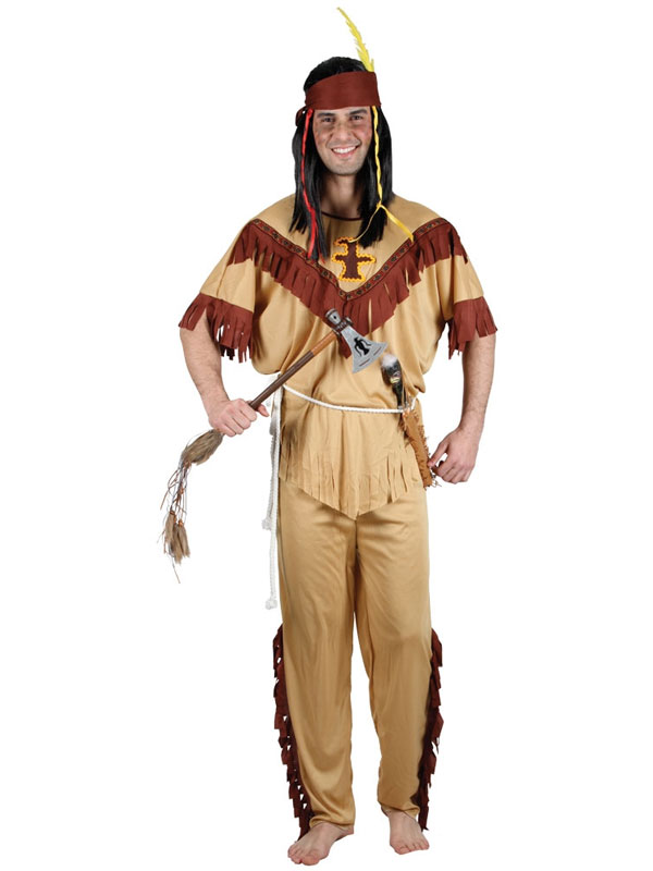Adult Mens Gents Native Red Indian American Apache Fancy Dress Costume BN | eBay
