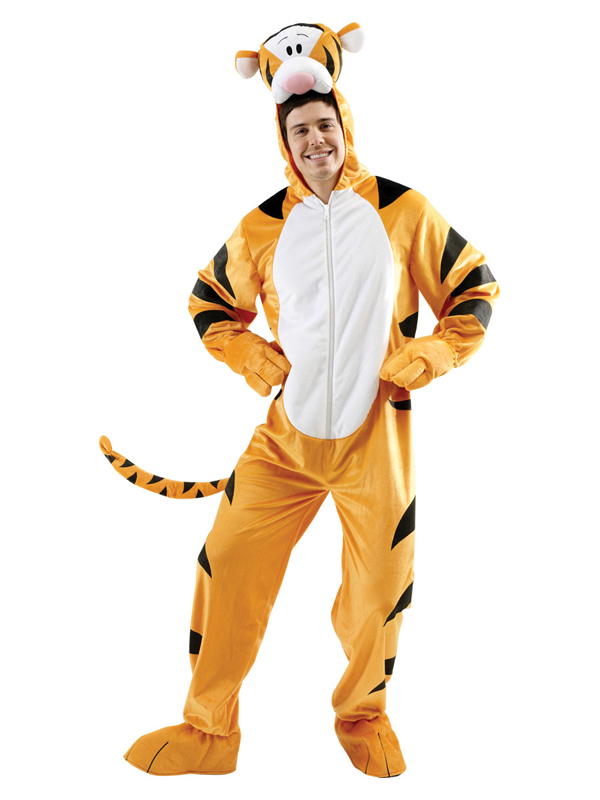 adult tigger fancy dress costume winnie the pooh tiger disney animal cartoon bn ebay. Black Bedroom Furniture Sets. Home Design Ideas