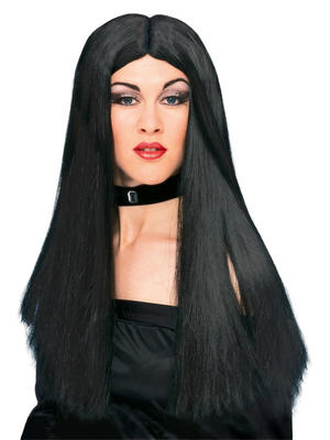 Long Black Witch Wig