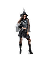 Adult Ladies Size 10-14 Bad Witch Fancy Dress Halloween Costume OVER 75% OFF