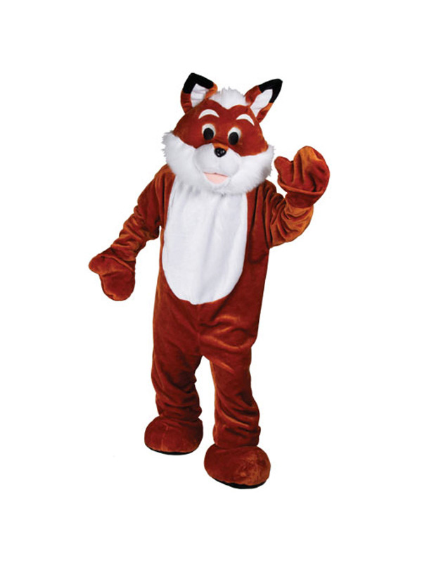 Men's Giant Furry Fox Jumpsuit Costume