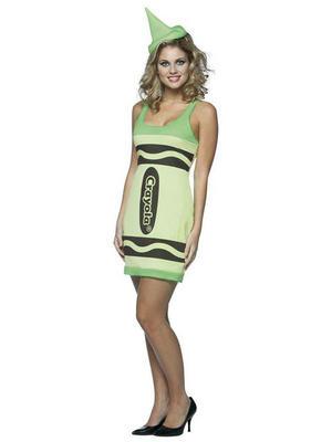 Yellow Green Tank Dress Crayola Crayon Costume