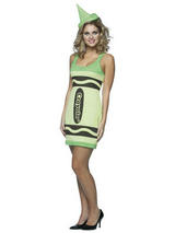 Yellow Green Tank Dress Crayola Crayon Costume