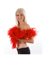 Red Feather Boa (1.8m Long, 80 gsm)
