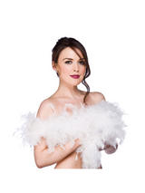 Pure White Feather Boa ( 1.7m Long, 60 gsm )