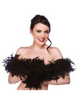 Black Feather Boa ( 1.7m Long, 60 gsm )