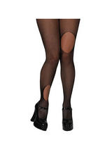 Black Fishnet Rip Design Tights
