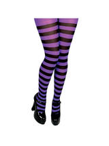 Black Purple Candy-striped Tights