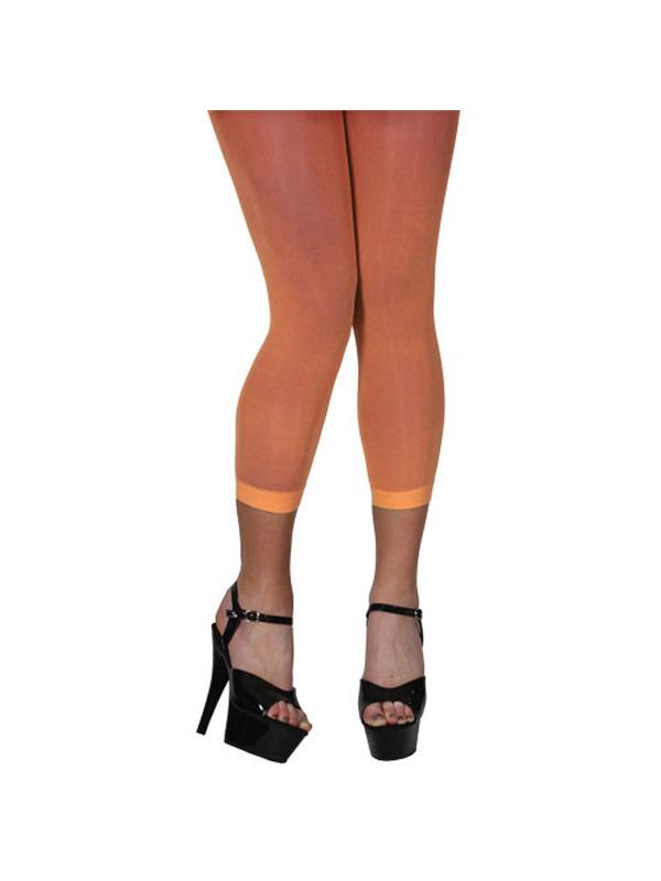 Neon Orange Footless Legging Tights