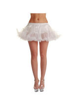Adult White Ruffle Tutu