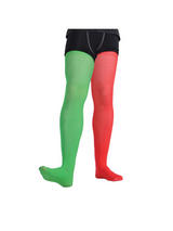 Mens Red Green Jester Tights