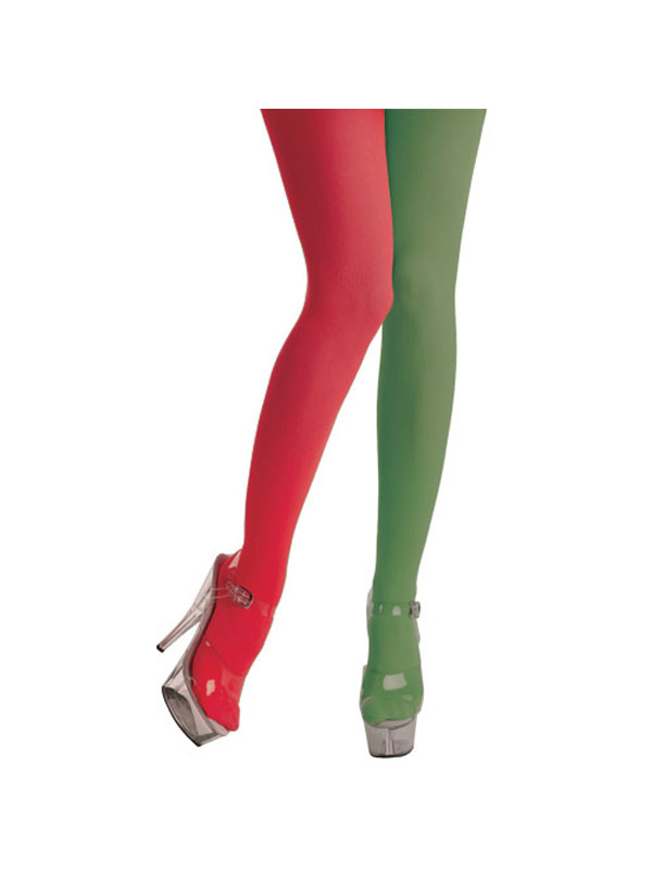 Red Green Jester Tights