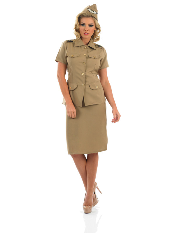 Ladies American GI WW2 Army Uniform  sc 1 st  Plymouth Fancy Dress & Ladies American GI WW2 Army Uniform | Plymouth Fancy Dress Costumes ...