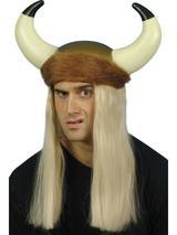 Viking Helmet And Long Blonde Hair