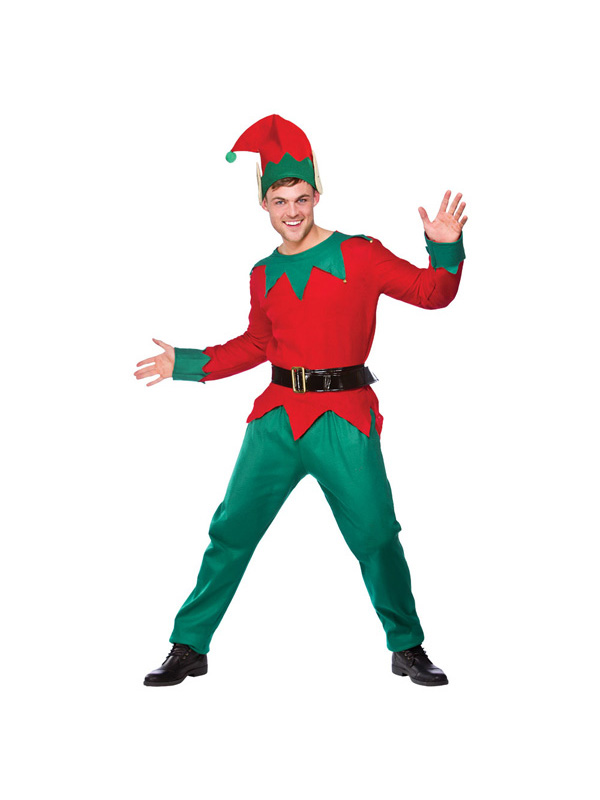 Men's Deluxe Christmas Elf Costume