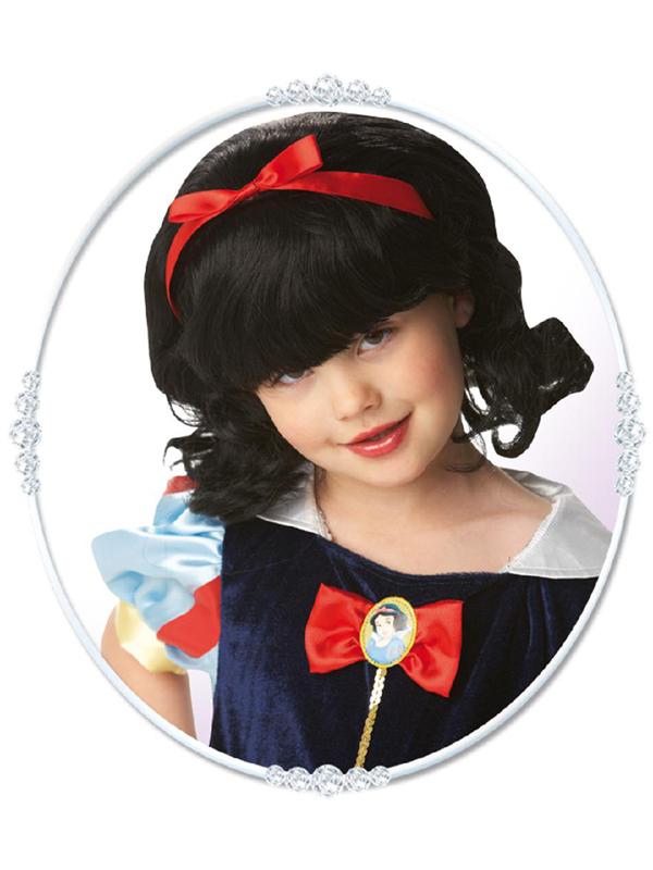 Child Princess Snow White Wig Headwear