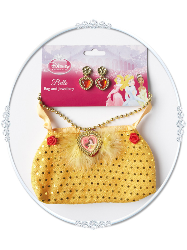 Child Princess Belle Bag And Jewellery