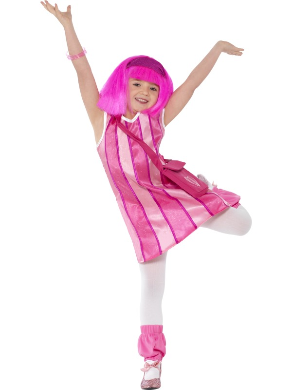 Girl's Lazy Town Stephanie Costume, Pink | Plymouth Fancy Dress, Costumes  and Accessories