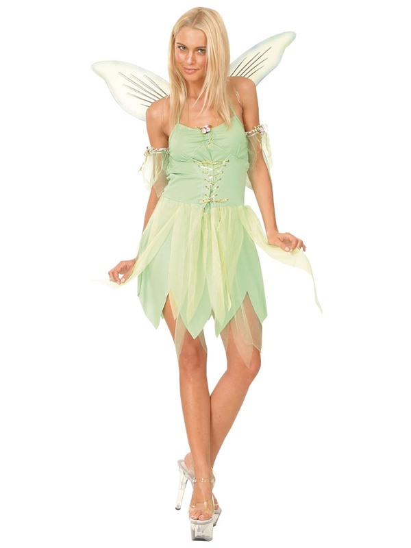 Fairy tinkerbell fancy dress costume womens adult neverland green fairy tinkerbell fancy dress costume womens adult neverland solutioingenieria Image collections