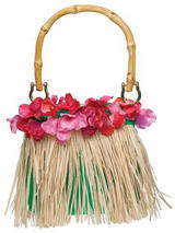 Hawaiian Grass Skirt Style Bag