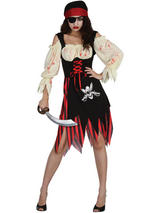 Ladies Cutthroat Zombie Pirate Costume
