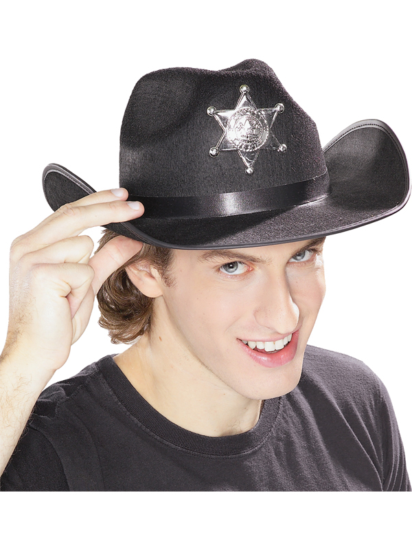 Black Sheriff Hat Accessory