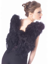 Soft Black Feather Angel Wings