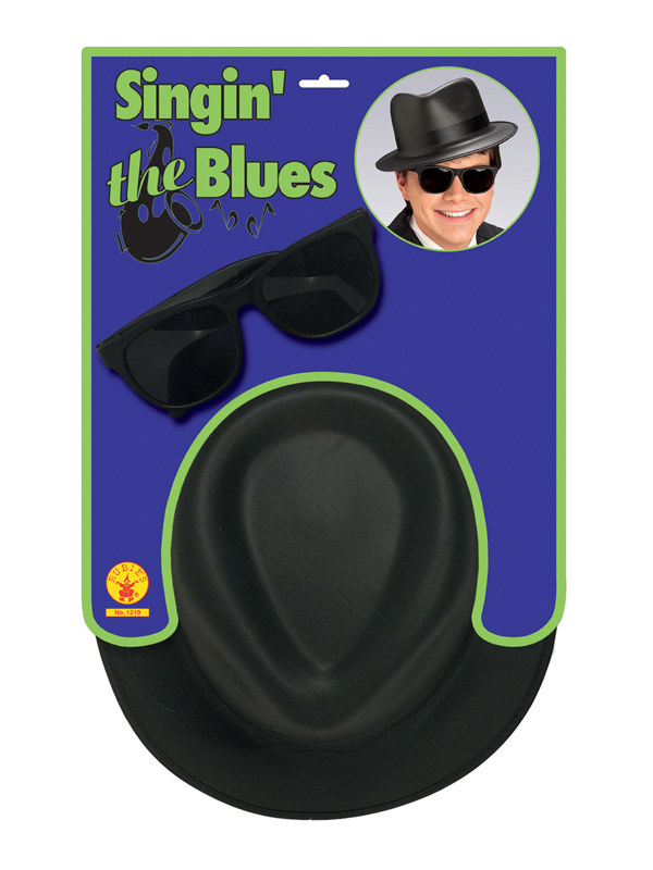 Singing The Blues Hat And Glasses Set