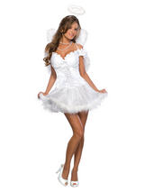 Ladies Sexy White Angel Costume